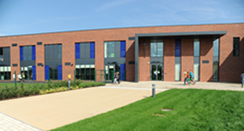 Ryecroft C.E. Middle School - front of new school building