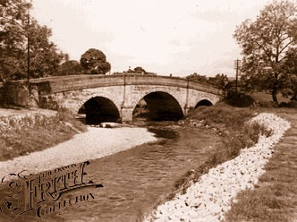 View of the bridge in Denstone 1955
